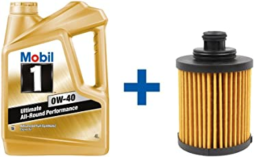 GoMechanic Engine Oil Mobil 1 0W-40 with Oil Filter for Accent Viva (29655986)