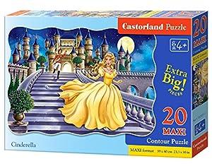 CASTORLAND Cinderella 20 Maxi pcs Contour Puzzle 20 Pieza(s) - Rompecabezas (Contour Puzzle, Dibujos, Niños, Niño/niña, 4 año(s), Interior)