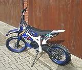 125ccm Dirtbike Pitbike 4 Takt 4 Gang Manuell 17/14 Zoll Blau Weiß 125cc Motor Cross Bike