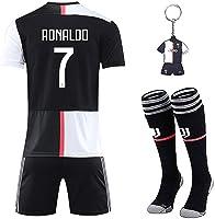Sholov Maglia Ronaldo 7 con Pantaloni, CR7 Maglia Replica Autorizzata 2019-2020 Bambino (Taglie-Anni 2 4 6 8 10 12 14)...