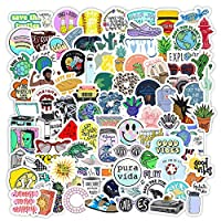 ‏‪New Vsco Girl Stickers for Hydro Flask[100pcs] Cute Mini Aesthetic Design for Laptop Phone Case Water Bottle Tumbler Cup Folder Bike Computer PC Helmet Car Luggage Skateboard Snowboard, Kids Teen Gift‬‏