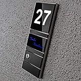 Haustür-Klingel Edelstahl-platte Anthrazit RAL 7016 - LED-beleuchtet – inkl. Gravur & Montagematerial – Aufputz-Montage