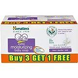 Himalaya Extra Moisturizing Baby Soap (75g, Buy 3 Get 1 Free)