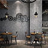 H&M Tapeten-Retro- industrielle Art-graue gesprenkelte Tapete des Zement-Muster-3D für Wohnzimmer/Schlafzimmer/Fernsehwand/Bekleidungsgeschäft/Restaurant, B
