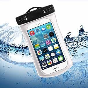 Bingsale Apple iPhone SE 5S 5C 5 Wasserdichte Schutzetui Schutzhülle Case Tasche Hülle - Silicon Protector Schutzhülle weiß