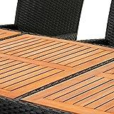 Deuba® Poly Rattan Sitzgruppe 8+1 schwarz | wetterbeständig |- Gartengarnitur - 2