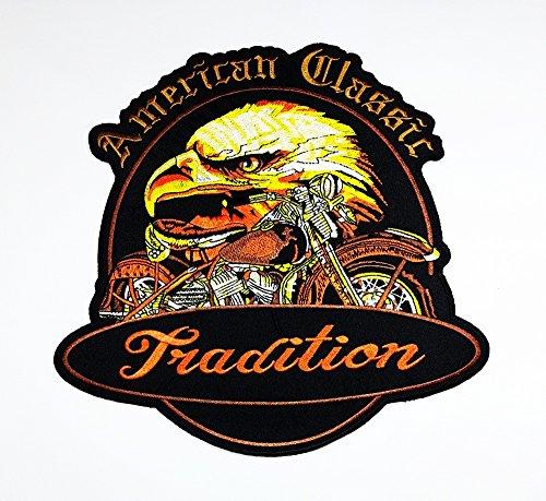 rabana XXL American Classic Tradition Eagle Hawk Motorrad Chopper Rider Biker Club Patch für Heimwerker Bone Ghost Hog Outlaw Hot Rod Motorräder Rider Lady Biker Jacket T Shirt Patch Sew Iron on gesticktes Badge Schild Kostüm