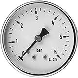 """1/4"""" NPT Macho de Rosca del Montaje 0-6bar Indicador de presión del manómetro de marcación de Placas de presión de Aceite en"""