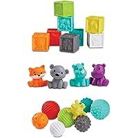 Infantino Sensory Balls Blocks & Buddies - Coffret de 20 pièces multi texturées pour le développement des sens et de la…