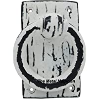 Cast Iron, Ring Door Knocker by The Metal Magician (Distressed White)
