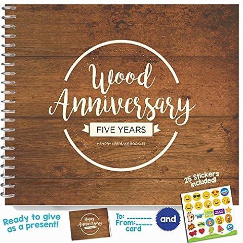 Anniversary mémoire souvenir Booklet Five Years