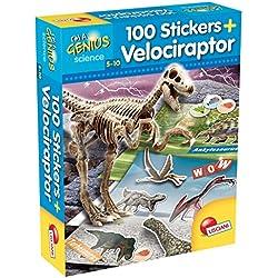 Lisciani Giochi 60580–Juegos I 'm a genius Dino 100Stickers Velociraptor