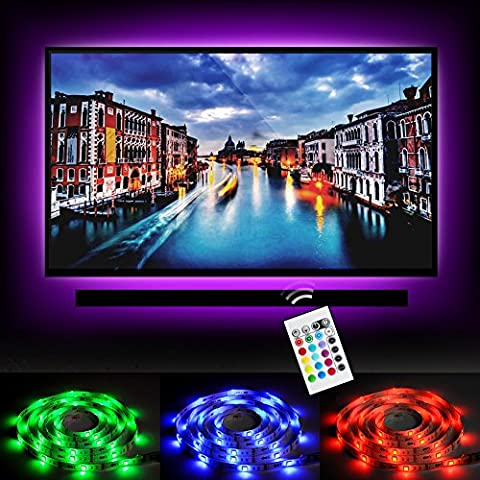 Emotionlite Bias Lighting Strip LED TV Backlight Strip Multi Color RGB Tape Color Changed with 24keys Remote Control for 32