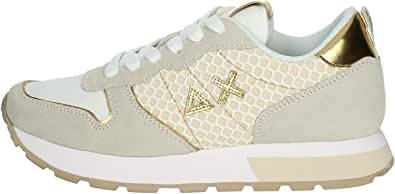 SUN68 Z31205 3143 BIANCO PANNA/ORO Sneakers Donna