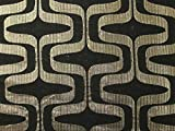 Geometrische Gewebe der Metallic Brokat Kleid Schwarz &