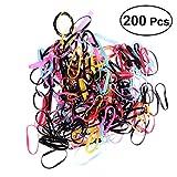 POPETPOP 200 STÜCKE Multicolor Gummibänder Elastische Haarbänder Bowknot Headwear Kopfschmuck für Haustiere Katze Hund