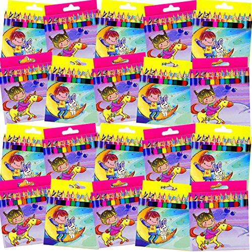 Preisvergleich Produktbild German Trendseller® - 12er Set - Holz-Buntstifte  Jungen & Mädchen  Mitgebsel  Kindergeburtstag  12 Stück