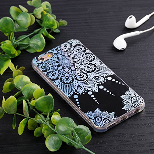 iPhone 6 Plus Custodia, iPhone 6S Plus Custodia, iPhone 6/6S Plus Cover, JAWSEU Bella Luminoso [Shock-Absorption][Anti Scratch] Protectiva Bumper per iPhone 6 Plus/6S Plus Cristallo Chiaro Cover Case  Totem #2