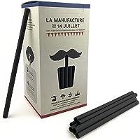 La Manufacture -140 PCS Paille en papier, 140 grosses pailles noires à boire biodégradables   Boissons avec et sans…