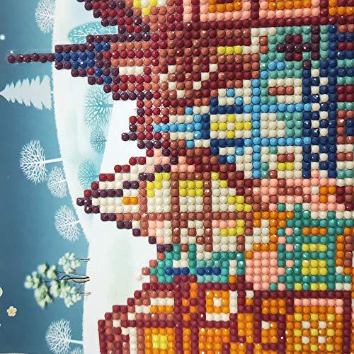 Kreative Aufkleber 4 Teile/Satz Mini Weihnachtsmann Frohe Weihnachten Papier Handwerk Diamant Cartoon Malerei -