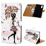 Für Samsung Galaxy A50 Hülle Lader Tasche PU Lader Hülle Gemalt Muster Flip Brieftasche Kartenhalter Magnetschnalle...
