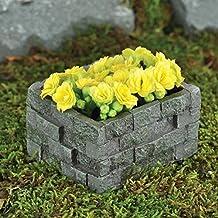 Fiddlehead Jardín accesorios – Maceta de piedra pequeña (flores ...