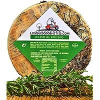 Queso de oveja al romero gourmet (español, curado, ideal con vino, queso entero de 2kg), de Losquesosdemitio