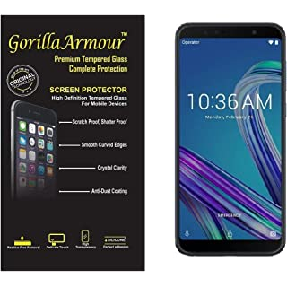 Gorilla Armour Premium Tempered Glass for Asus Zenfone Max Pro M1 | 9H+ Strong, 0.3 mm, Chemically Strong Tempered Glass…
