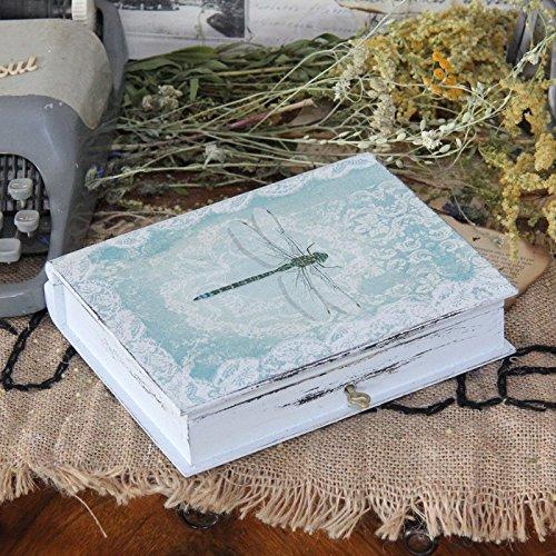 Vintage Holz Buchsafe Landhaus Shabby Buchtresor Buch Holzkiste Schatulle Kasten