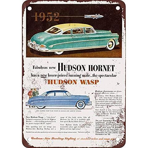 1952Hudson Hornet e Wasp Look Vintage Riproduzione in metallo Tin Sign 20,3x 30,5cm