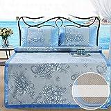 LJ&XJ Faltbare kühlen Sommer pad matratze schlafen,Kühlung der matratze top mat atmungsaktive Sommer schlafen mat-Bing SI,König & königin-B Twinch2