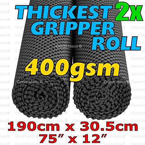 Medipaq Grip Mat - Base antideslizante, 400 gsm, 30 x 190 cm, 2 unidades