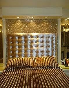 Glitter Wallpaper (Pale Gold) - price per metre: Amazon.co