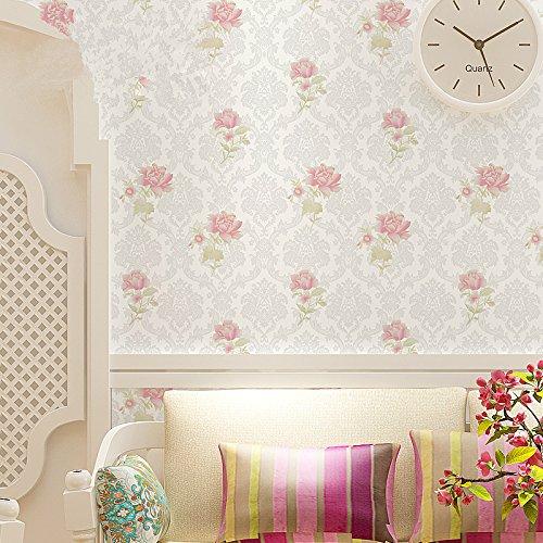 Zhzhco Dicker Pvc-Tapeten Wasserdicht Selbstklebende Tapeten Im Stil Der Romantischen Schlafzimmer Tapete 45Cm*10M