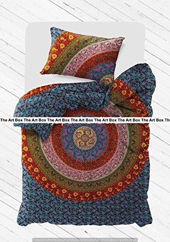 dala indischen Bettbezug Bettwäsche Tagesdecke 3 Stück Baumwolle Bettbezug Set Twin Größe 80x50 Zoll ()