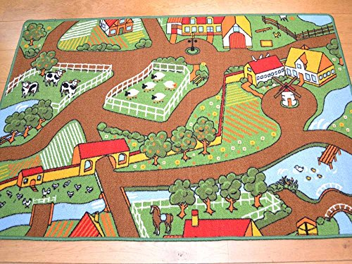Kids Non Slip Machine Washable Farmyard Play Mat. Available in 4 Sizes (200cm x 200cm)