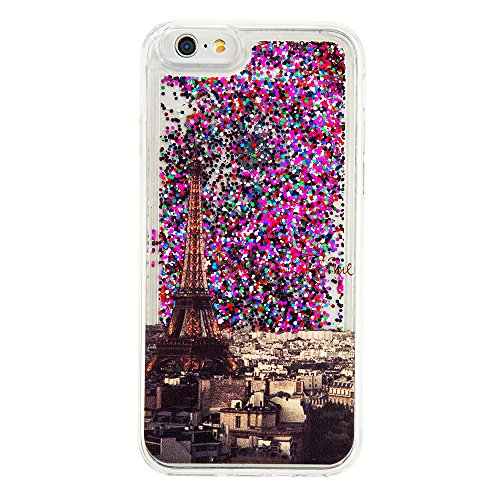 Nutbro iPhone 5S Bling Case iPhone SE Colorful Flowing Shinny iPhone 5 Glitter Star Soft TPU Back Cover Shockproof Dynamic Liquid Quicksand Mobile Phone Case YB-iPhone-5S-291
