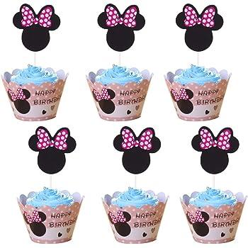 Amycute 24 Stucke Mouse Kuchendekoration Cupcake Toppers Und