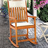 Wooden rocking chair traditional rocking armchair tropical exotic acacia wood nursing chair nursery...