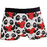 JIRT Slip Boxer da Uomo Cute Panda Heart Love Underwear Tronchi Elasticizzati Traspiranti Maschili Bulge Pouch Soft Underpant