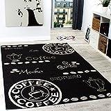 Teppich Modern Flachgewebe Sisal Optik Küchenteppich Anthrazit Grau, Grösse:120x170 cm