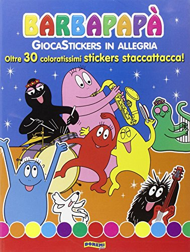 Giocastickers in allegria. barbapapà