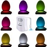 The Original Toilet Bowl Night Light Gadget Funny LED Motion Sensor Presents for Seat Novelty Bathroom Accessory Gift…