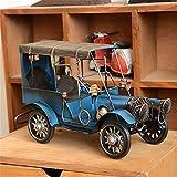 Metal Vintage Blue Classic Car Model Wro...