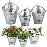 albena shop 73-159 Elli 3er Set Pflanztöpfe Zink zum Aufhängen