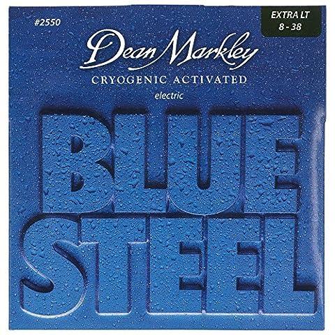 Dean Markley 2550 Blue Steel XL Saiten für E-Gitarre, Stärke .008-.038