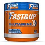 Fast&Up Glutamine (Unflavoured, 2 Month Supply) L-Glutamine For Muscle Building & Performance | Post Workout Recovery & Muscl