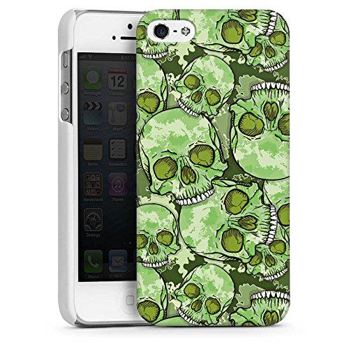 Apple iPhone 4 Housse Étui Silicone Coque Protection Tête de mort Motif Motif CasDur blanc