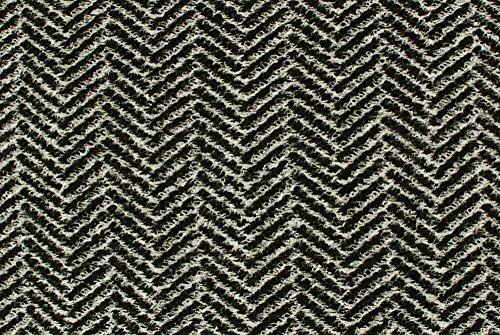 Tessuto al metro: Maglia di lana chevron bianco e nero