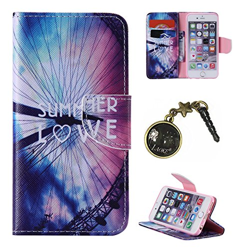 PU Cuir Coque Strass Case Etui Coque étui de portefeuille protection Coque Case Cas Cuir Swag Pour Apple iPhone 6 (4.7 pouces)+Bouchons de poussière (6LB) 4